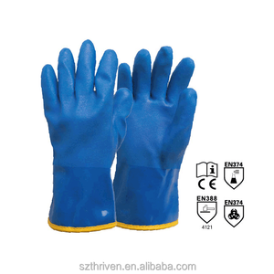 blue pvc gloves size have M-XXL