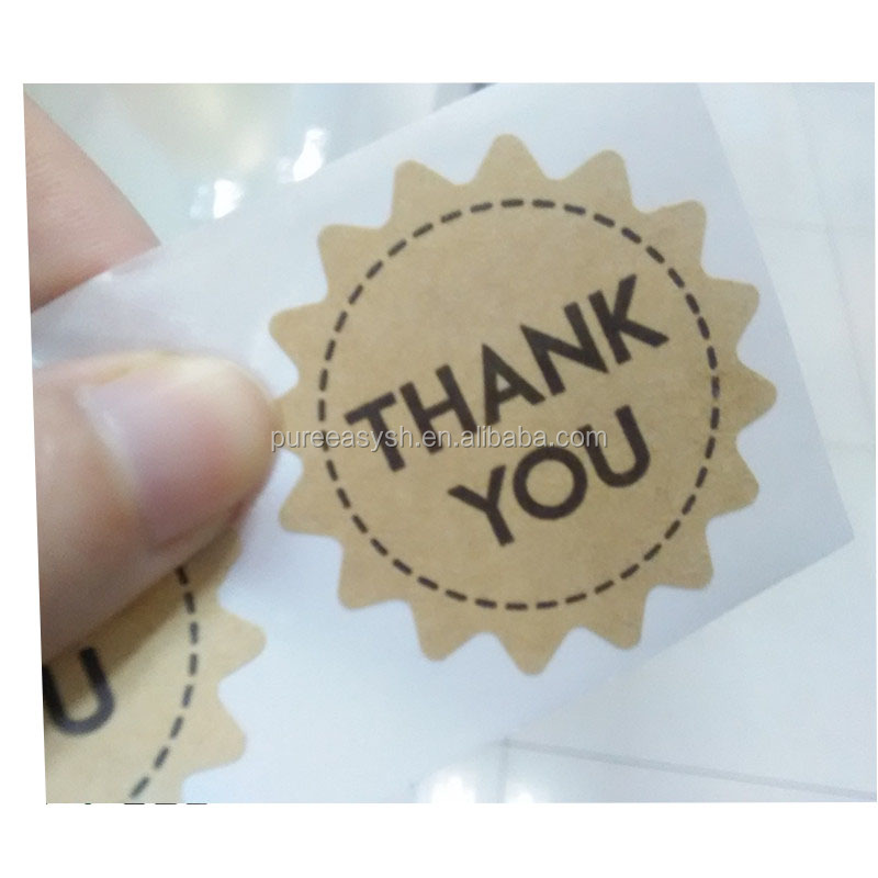 Kraft paper thank you label sticker