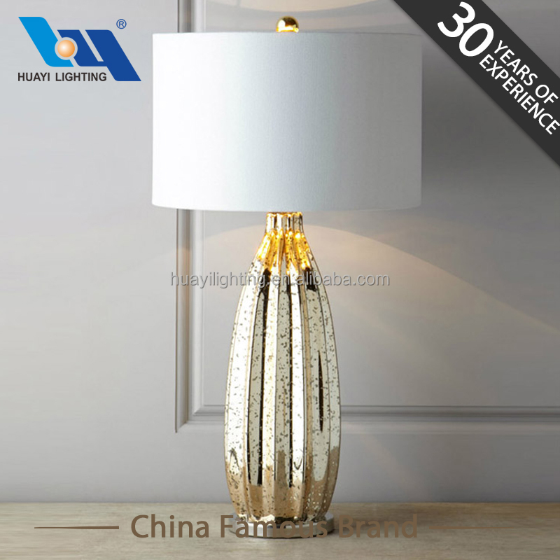 Newest home fixture of peach shape of the glass lamp&european antique table lamps