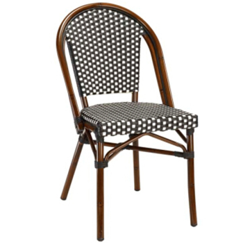 Uv Resistant Outdoor Rattan French Bistro Chairs Bamboo Furniture
