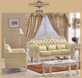 French Classical Italian Leather Sofa Sets Wood Crave