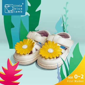 littleblueamb white daisy T-strap wholesale lovely baby girl sandals