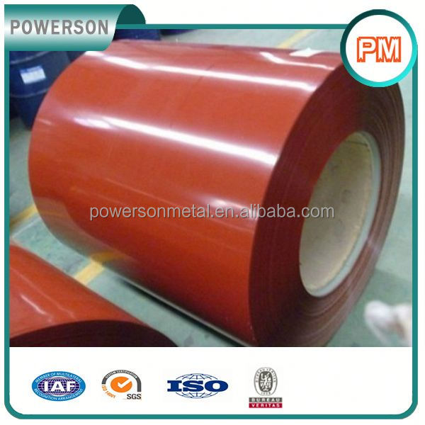 750-1250mm width prepainted galvanized steel coil price for Bridge Steel