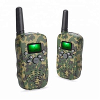 Mini handy talkie with camouflage appearance toys for children two way radio