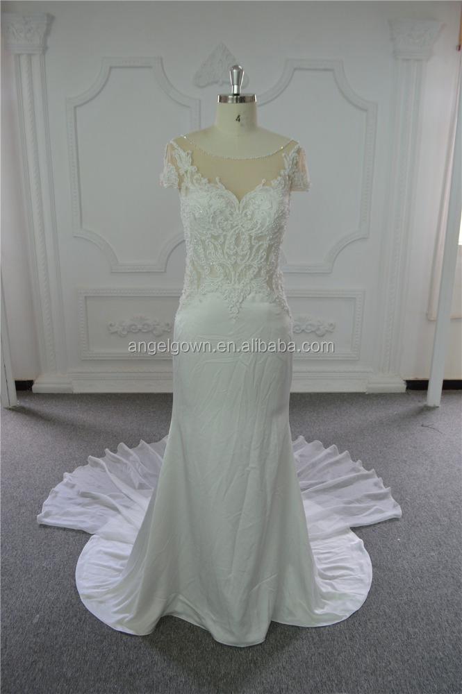 Tight Sexy Mermaid Wedding Dress Backless Wedding Gowns 2017 Bridal