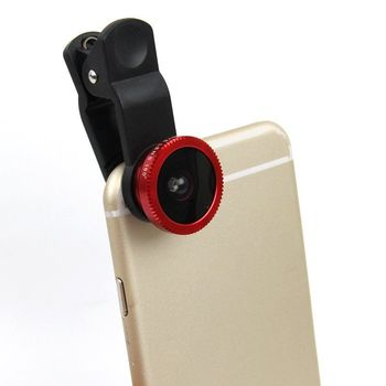 Free Samples Universal Clip 3 in 1 Fish Eye Wide Angle Macro Camera Lens for Samsung Galaxy a7
