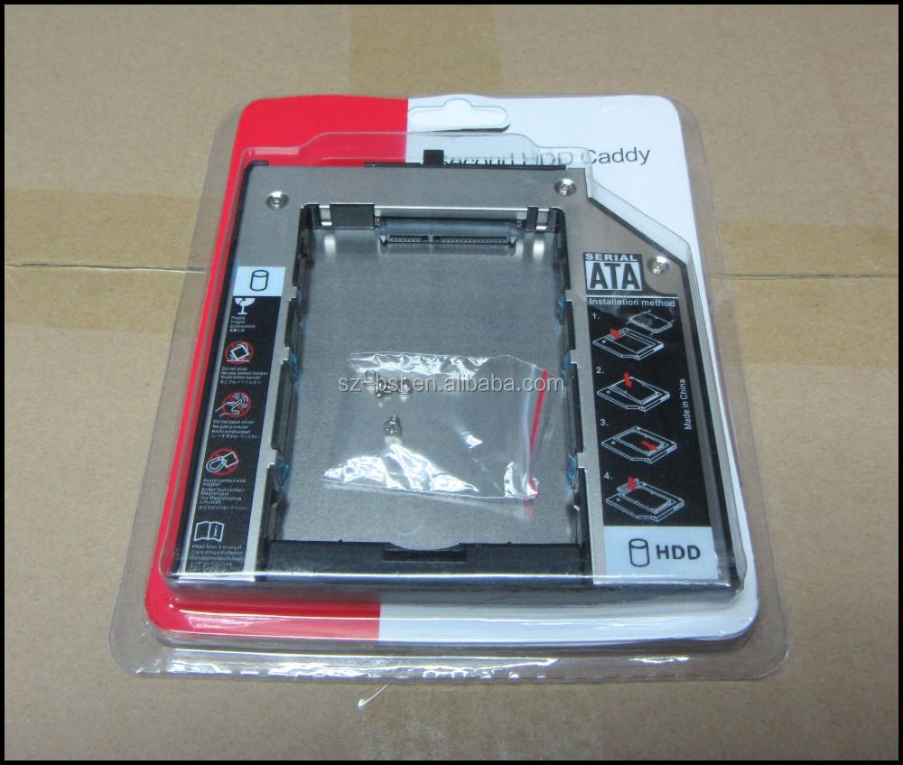ordinateur portable 2 me hdd ssd disque dur caddy pour. Black Bedroom Furniture Sets. Home Design Ideas