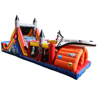 hot sale space ship inflatable obstacle course, obstacle course supplies, indoor obstacle course manufacturer