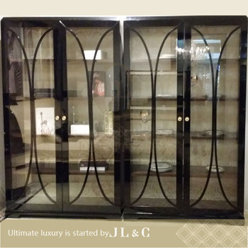 Whole Solid Wood Wine Rack Kitchen Cabinet Luxury Clic Furniture Jh02 02 Display