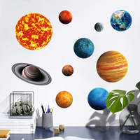 Personality creative home decoration nine planets luminous stickers children's room bedroom wall stickers planet fluorescent