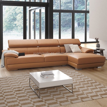 Best Selling Functional Leather Sectional Chaise L Shaped Lounge Sofa  Suites YL5322