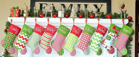wholesale monogram personalised burlap chevron christmas stocking buy christmas stockingchevron christmas stockingwholesale monogram personalised burlap - Wholesale Christmas Stockings