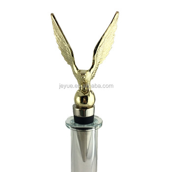 Gold Eagle Wine Bottle Stoppers Top Design Engraved Wine Stopper ...