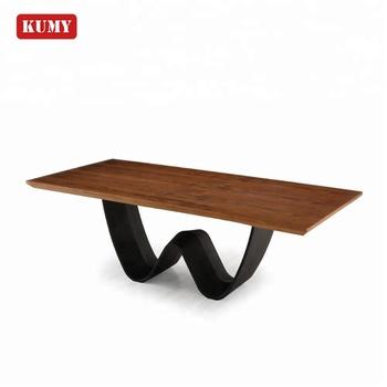 Latest Walnut Mdf Carving Metal Steel Frame Wooden Dining Table Set Designs  Model Wood Mesa De Comedor Table De Salle A Manger - Buy Dining Table ...