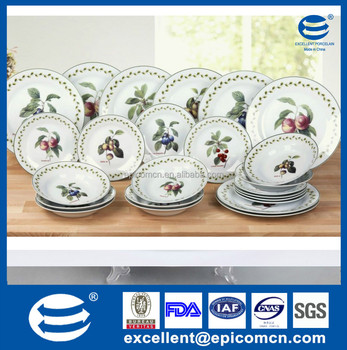 18pcs round dinnerware sets wholesale dinner plates for weddings beautiful center fruit decal porcelain  sc 1 st  Alibaba & 18pcs Round Dinnerware Sets WholesaleDinner Plates For Weddings ...