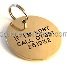 cheap round 14k gold personalized dog name tags buy dog name tags