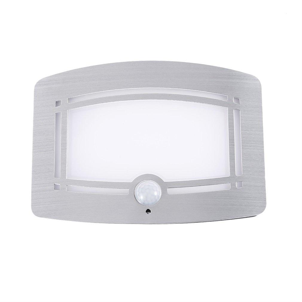 ICOCO Motion Sensor LED Night Light, LED Wireless Motion Sensor Activated Sconce Wall Night Light Operated Sconce Wall Light Wireless Battery Powered (Not included)