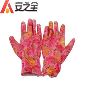 Womens Heavy Duty PU Palm Lined Rigger Neon Work Gloves