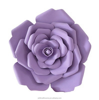 High quality artificial wedding large paper rose flowers wall backdrop
