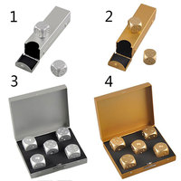 Portable Dice Poker Party 5 pcs High Quality Silver Gold Color Solid Aluminium Alloy Dominoes Metal Drinking Dice Game