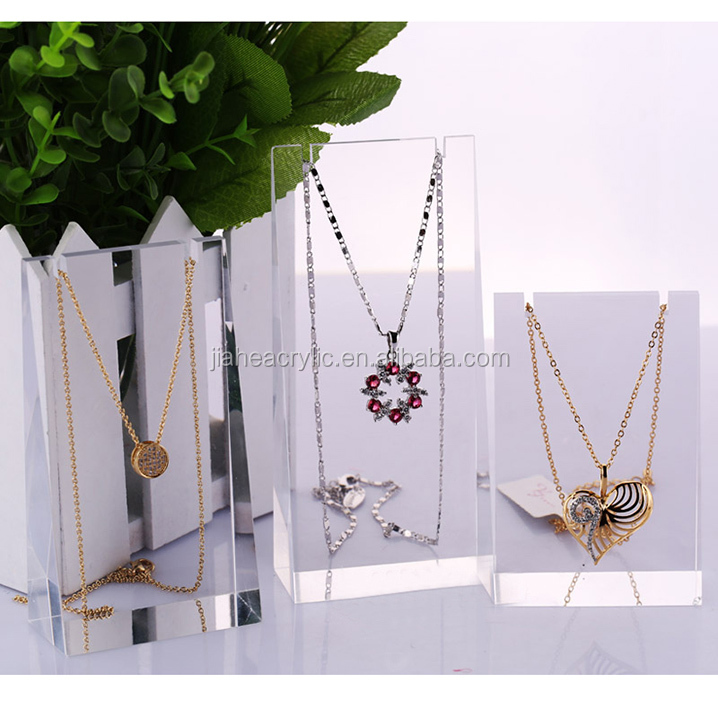 Clear Acrylic Necklace Display Rack/transparent Perspex Jewelry ...