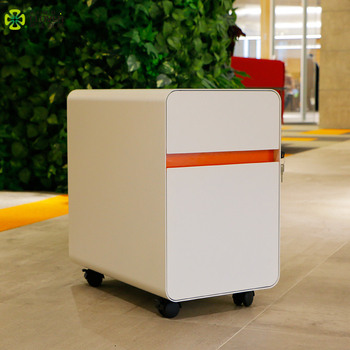 China Supplier Factory Price High quality Office Equipment Steel Storage Cabinets 3 Drawer Metal Mobile Pedestal With Wheels
