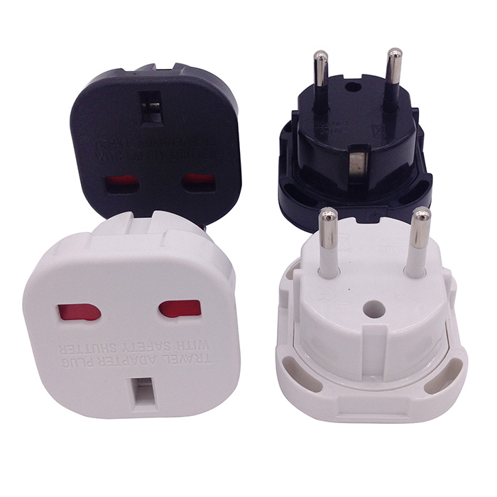 Factory price uk to europe plug adapter travel euro converter CE Rohs approved