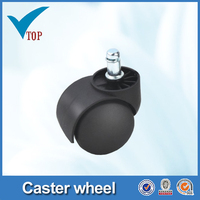 furniture plastic dual wheel caster white nylon wheel caster (VT-04.008)
