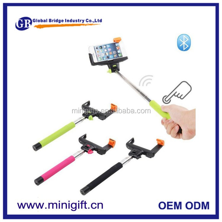 2016 multifunction selfie stick with handheld wireless monopod can be remoted