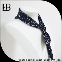 Black silk scarf custom silk women scarves with little stars