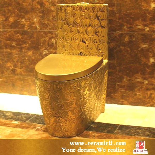 Luxury hotel single piece toilet gold bowl Hotel Single Piece Toilet Gold Bowl  Buy