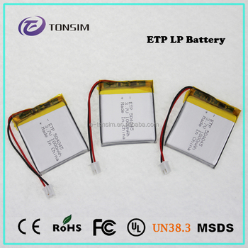 Ultra Thin Lipo Battery Rechargeable High Capacity Lithium Polymer ...