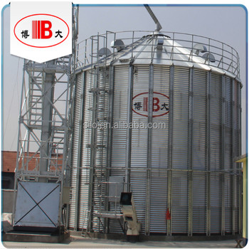 BODA flat / hopper bottom grain steel silo for exporting