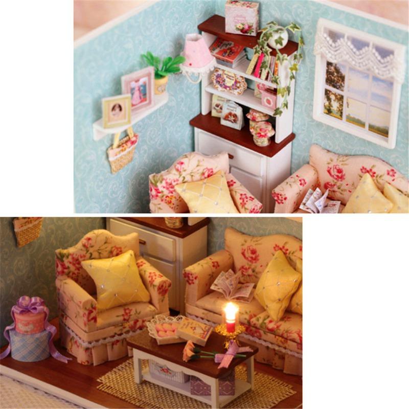 Wholesale DIY Handmake Wooden Dollhouse Miniature Kit