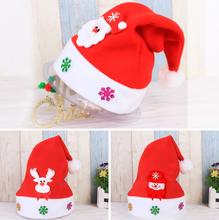 Christmas Kids Xmas Decoration Santa Hat Traditional Red and White Soft Caps