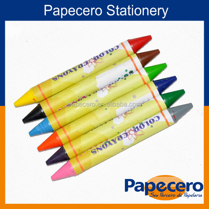 Environmental Friendly Colorful Double-Side Wax Crayon Pen