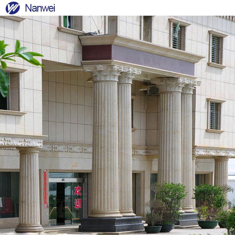 Marble Column Entrance Gate Pillar Designs Granite Design