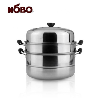 Wholesale Southeast Popular Kitchen Steaming Cookware 28/30/32 cm Stainless Steel Multifunction Steamer Pot