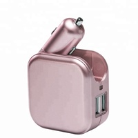 2018 Otravel private mold dual USB car charger 2 port adapter cigarette socket lighter for cell Phone