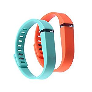 Sezee WristBand Small 1 Park Teal 1 Park Orange Band for Fitbit FLEX Only With Clasps Replacement /No tracker/ - 2 park in package replacement wrist band for fitbit flex