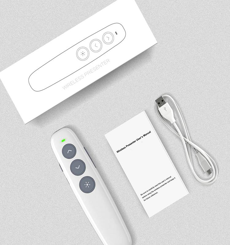 Wholesale 2.4G wireless slide changer USB PPT Presenter 5watt laser pointer pen
