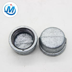 galvanized casting malleable iron pipe fitting ball end screw cap