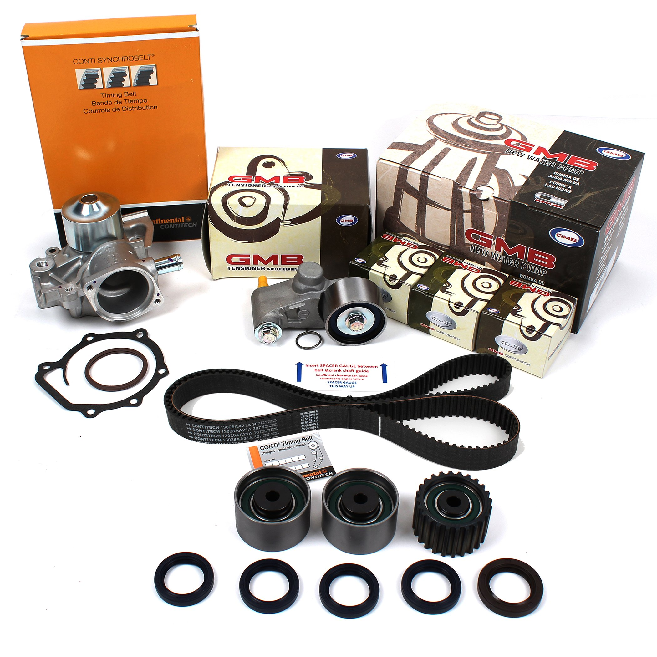 "NEW TCKS307WP Timing Belt Kit, Water Pump Set, & Oil Seals for 00-06 Subaru 2.5L ""SOHC"" Non-Turbo EJ25 Engine Legacy, Outback / Baja(03-06) (ContiTech + GMB)"