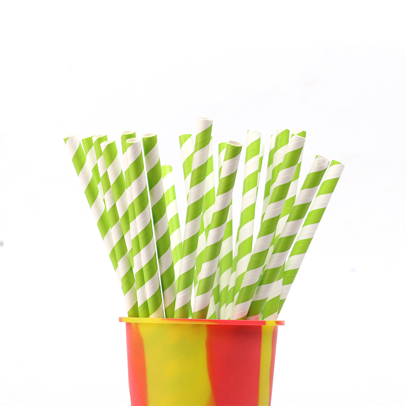 Wholesale 100% Biodegradable Food Grade Colorful Paper Straw For Home/ Outdoor/Club