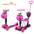 Alibaba china factory cheap price 5 in 1 multifunctional three wheel foot kick baby scooter