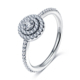 LZESHINE Women Diamond Love Eternity S925 Silver Finger Ring PSRI0006-B