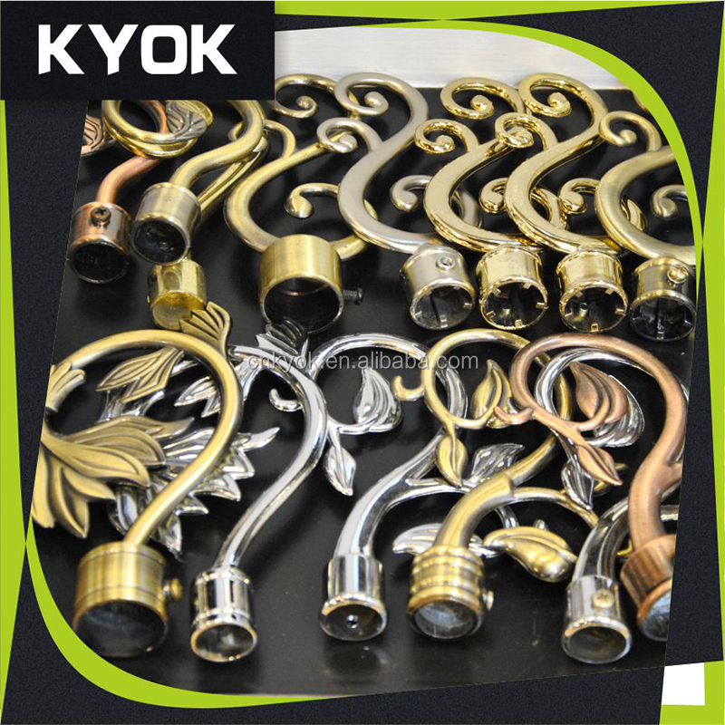 Promotional home and hotel use curtain finials sets, Hot sale superior quality curtain finials cover in European market