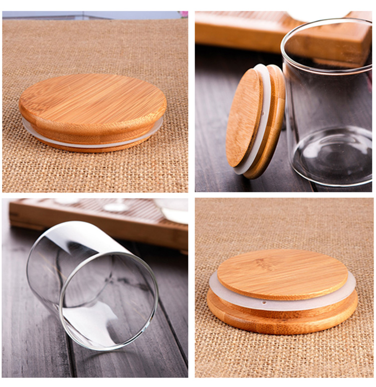 Wholesale 180ml 6oz Small Glass Spice Jars With Bamboo lid