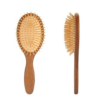 Custom Private Label Paddle Wooden Hair Brush, Personalized Detangling Hair Brush