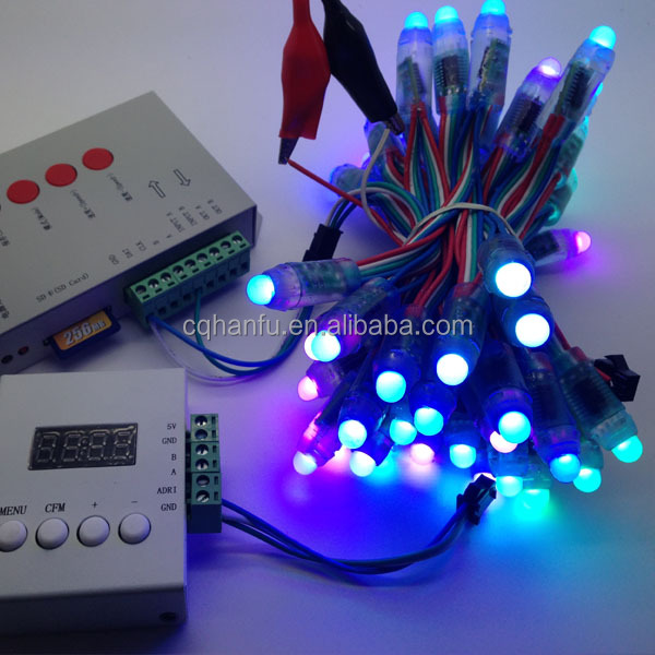 5V dmx512 led pixel string with 10cm spacing for outdoor use